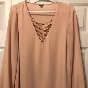 Charlotte Russe blush colored blouse